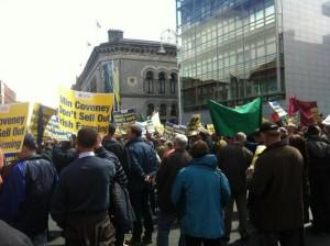 Protesta de los agricultores irlandeses