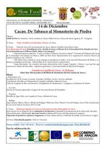 Programa de la jornada celebrada en Ateca.